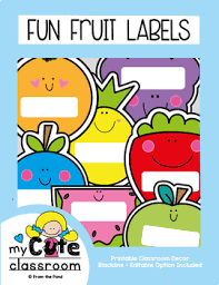 editable fruit fruit labels for the classroom editable by from the pond tpt