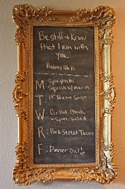 decorations luxury rectangular gold chalkboard frame with