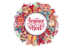 joyeux noel french christmas card merry xmas france holiday