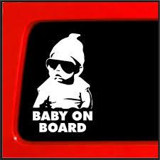 jeep bumper stickers amazon com baby on board sticker carlos hangover funny car