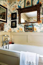 wallpaper bathroom designs floral wallpaper bathroom bathroom design ideas houseandgarden