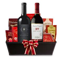 wine gift basket send a napa valley california wine gift basket free shipping