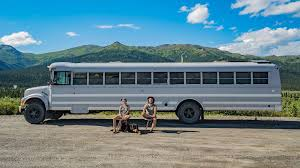 couple travel all over america in incredible converted bus