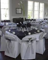 Black Table Centerpieces by White And Silver And Black Wedding Reception Decorations Themes
