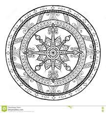 christmas theme doodle snowflake on ethnic circle ornament hand