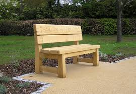 Rustic Oak Bench Wooden Memorial Garden Benches Home Outdoor Decoration
