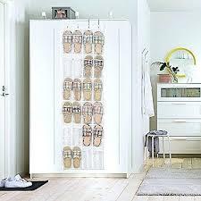 Shoe Rack For Closet Door Narrow Closet Doors The Door Shoe Organizer Hanging Shoe Rack