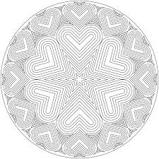 outstanding heart mandala coloring pages printable with free