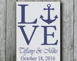 love anchors the soulnautical anchor signpersonalized