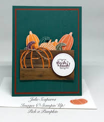 stampin up thanksgiving cards ideas handmade fall card featuring pick a pumpkin wood grain crate