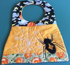 halloween baby bibs halloween spider bib 6x10 and 7x12 in the hoop machine embroidery