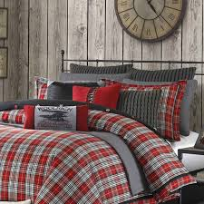 Plaid Bed Set Williamsport Plaid Xl Comforter Set Free Shipping