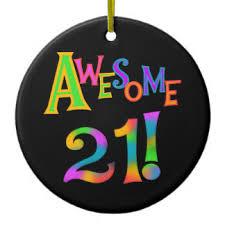 happy 21st birthday ornaments keepsake ornaments zazzle