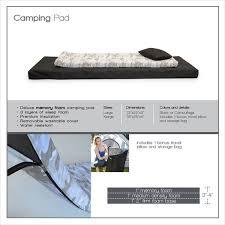 extra large roll n go memory foam orthopedic camping sleeping pad