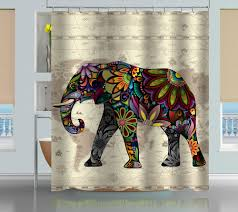 Shower Curtain World Map Floral Elephant World Map Shower Curtain Creativgoods