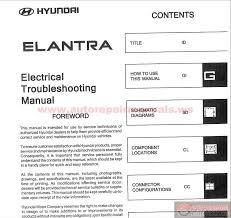 2006 hyundai elantra repair manual hyundai elantra 2004 electrical troubleshooting manual auto