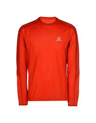 Salomon Trail Runner Ls Tee Sport T Shirt Red Men Sportswear Buy