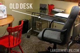 mini office makeover desk upgrades lansdowne life