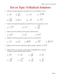 worksheet simplify radicals worksheet laurelmacy worksheets for