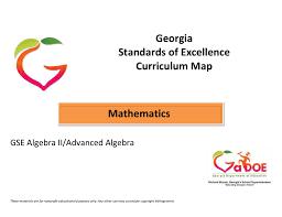 algebra ii advanced algebra curriculum map