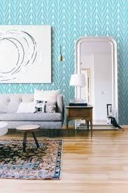 geometric removable wallpaper blue navy creams self adhesive