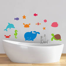 sea creatures wall stickers by mirrorin notonthehighstreet com sea creatures wall stickers