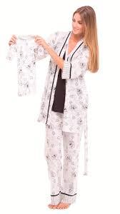 olian maternity olian maternity black white toile pajama set bellablumaternity