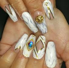 marble design square u0026 coffin nails pinterest crazy nails
