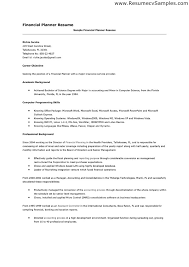 financial advisor resume examples sample investment advisor