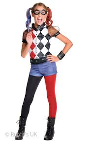 dc superhero girls deluxe harley quinn fancy dress costume large