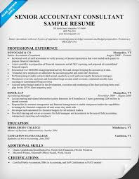 Sap Consultant Resume Sample by Senior Accountant Consultant Resume Samples Across All