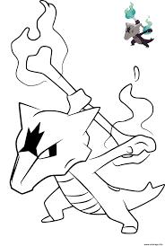 Coloriage pokemon marowak alola ossatueur  JeColoriecom