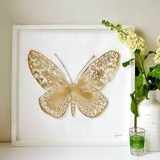 wall designs gold wall framed handmade 3d butterfly paper