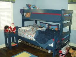 Hand Made Bunk Beds by Hand Crafted Twin Over Full Bunk Bed With Nightstand By Ambassador