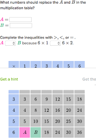 patterns in multiplication tables practice khan academy