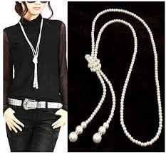long silver pearl necklace images Long beaded pearl necklace sweater chain western luxury alloy jpg