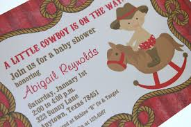 baby shower cowboy little cowboy baby shower invitations