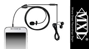 mxl mm 160 lavalier microphone for smartphones and tablets