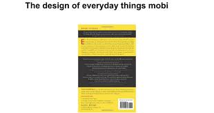 the design of everyday things mobi google docs