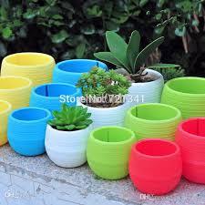 online cheap wholesale colorful plastic plant pots water storage