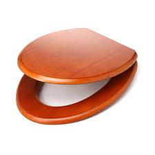 Eljer Emblem Wood Toilet Seat Wooden Toilet Seat Toilet Seat Elongated Solid Wood Dark Oak Brass