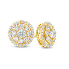 gold diamond stud earrings view all earrings earrings gordon s jewelers