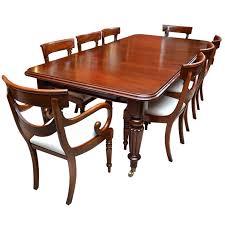 Mahogany Dining Room Table And  Chairs - Mahogany dining room set