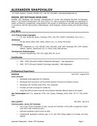 Resume 10 Key by Astounding Inspiration Net Developer Resume 10 Net Developer