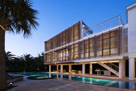 Glass Box House Michael Phelps Swim Spa Exterior Contemporary With Beach House