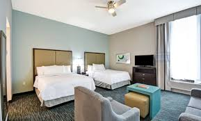 Bed And Living Homewood Suites Galveston Tx Extended Stay Hotel