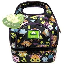 lilly bloom owl lunch bag bloom