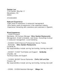 Olive Garden Server Job Description Resume by Resume 2015 Copy