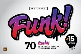 funk graphic styles layer styles creative market
