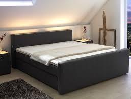 Schlafzimmer Boxspringbett Komplett Boxspringbett Linus 180x200cm Bezug Anthrazit Bett
